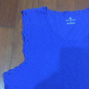 TALBOTS Blue Tank Top